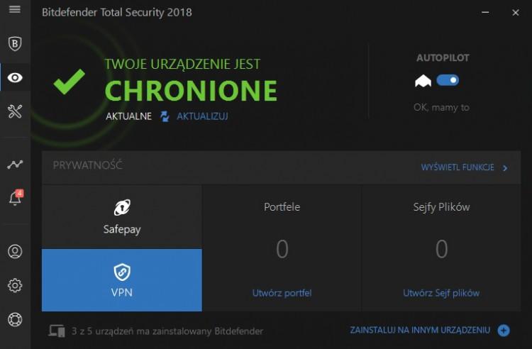 VPN - nowa funkcja w Bitdefender w programach dla domu i małej firmy !