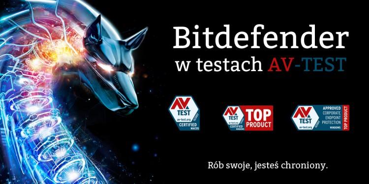 Oprogramowanie Bitdefender z najwyższymi ocenami AV-TEST