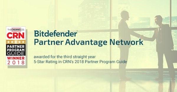 Bitdefender otrzymuje pięć gwiazdek w Partner Program Gui 2018.