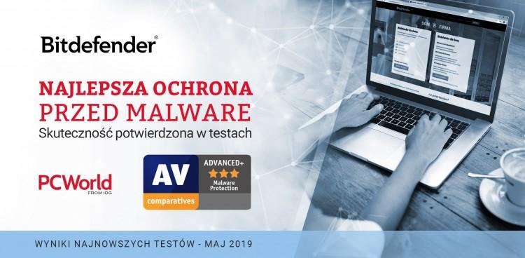 Bitdefender najskuteczniejszą ochroną przed malware!