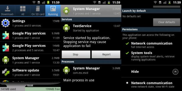 Przykład adware Android