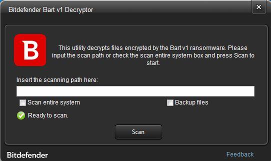 Fragment programu do odszyfrowywania plików