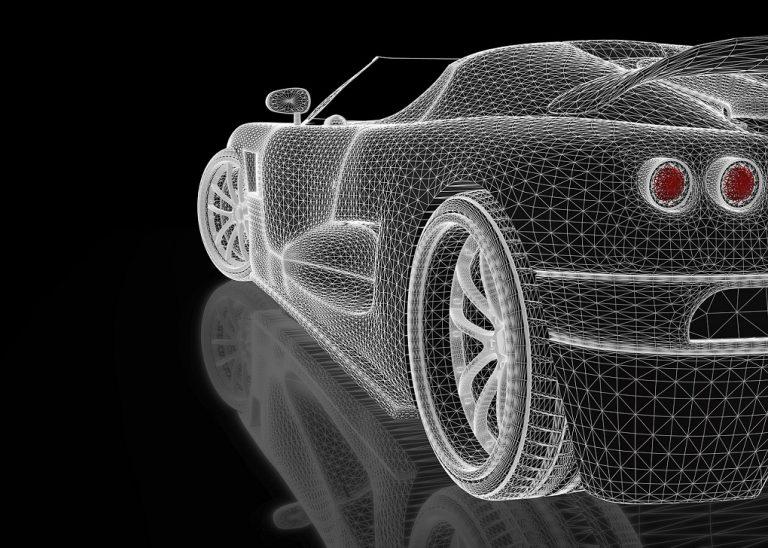 Model graficzny Tesli cabriolet
