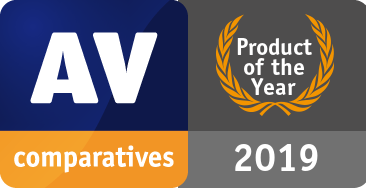 nagroda AVComparatives - Product of the year 2019