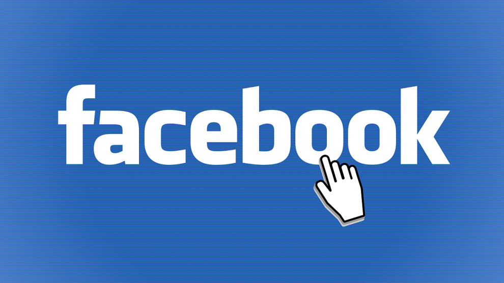 Logo facebook z kursorem