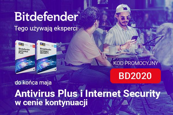 Antivirus plus i internet security w cenie kontynuacji z kodem bd2020