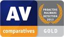 Certyfikat AV-COMPARATIVES - Gold - Proactive Protection 2013