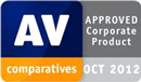 Certyfikat AV-Comparatives Approved Corporate Product 2012