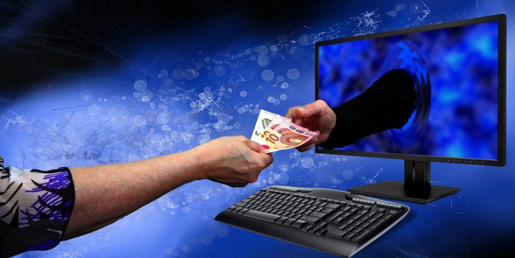 Grafika ukazująca płatność online