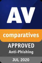Certyfikat AV-Comparatives Anti-Phishing Bitdefender 2020
