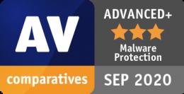 AV-Comparatives Malware Protection Wrzesień 2020