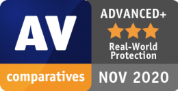 AV-Comparatives REAL-WORLD PROTECTION TEST listopad 2020